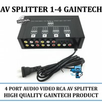 Promo AV Splitter 1-4 Gaintech - High Quality - Original