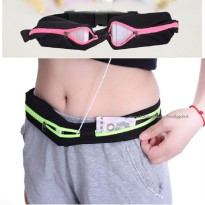 Tas Jogging model Ikat Pinggang - Double Pocket Running Belt