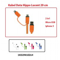 Kabel Usb Hippo Lucent 20cm 2in1 (1kd2in102lh)