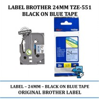 Promo Label Brother 24mm TZE-551 Pita \ color tape Black on Blue