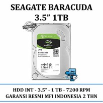 Promo HDD Internal SATA Seagate 3.5 Inch 1TB Barracuda - Harddisk Internal