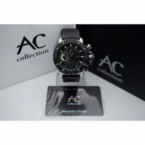 Alexandre Christie 9205 Silver Black Leather