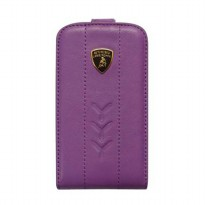 Lamborghini Flip Case For Blackbery 9790 - Ungu