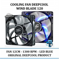 Promo Cooling Fan DeepCool - Wind Blade 120 12cm Case Fan Cooler - Led Blue