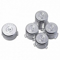 [poledit] Mod Freakz Xbox One Controller Aluminum Bullet ABXY Guide Buttons Silver (R1)/13035159