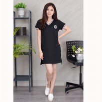 Jfashion Korean Style Tunik With Emblem Short Sleeve - Anni