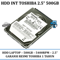 Promo Toshiba 2.5 Inch Sata 500 GB Internal Laptop HDD \ Harddisk