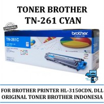 Promo Toner Brother Original TN261 Cyan for HL-3150CDN, HL-3170CDW,dll