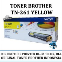 Promo Toner Brother Original TN261 Yellow for HL-3150CDN, HL-3170CDW, dll