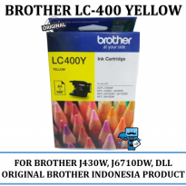 Promo Tinta Brother LC-400 Ink Tinta Original Brother Yellow