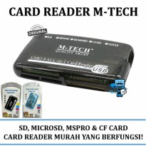 Promo Card Reader USB All in One M-Tech - SD, MMC  CF Card