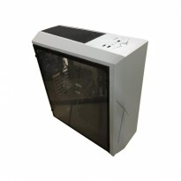 Promo Casing PC CUBE GAMING ViLL White - Full Acrylic Window - Laser Logo