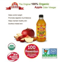 Bragg Organic Apple Cider Vinegar with The 'Mother' Raw - Unfiltered 16oz 473ml