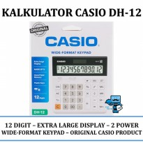Promo Kalkulator Casio DH-12 Black,White