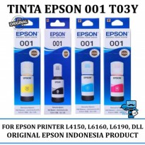 Promo Tinta Printer Epson 001 T03Y Series Original - For L4150, L6160, L6190