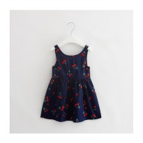 Summer Dress - Navy Cherry
