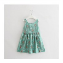Summer Dress - Green Ribbon