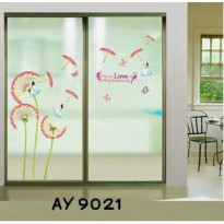 Wallsticker Bunga Tiup