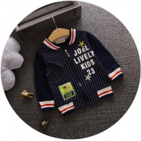 JACKET ANAK HITAM STRIPE LIVI KID (RSBY-2184)
