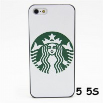LIMITED HARD CASE FASHION STARBUCKS COFFEE WHITE FOR IPHONE 5 5S