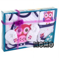 Kiddy Baby Gift Set new OWL 11164 Perlengkapan Baju Set Bayi - 0Month+