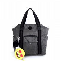 Kipling Original Bennet Leisure Emoji Big - Grey