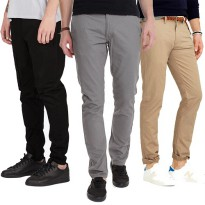 Chino Pants Regular/ 4 Warna / Cotton semi jeans /Celana Panjang Chino Reguler Fit