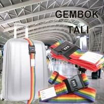 RAINBOW password lock ] SABUK PENGAMAN PIN ANGKA TRAVEL KUNCI