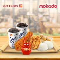 BULDAK / Paket Berdua 'B' /1Buldak Chicken 1CrispyChicken 2Nasi 2Cola 1Sweet PotatoBall/ LOTTERIA♥