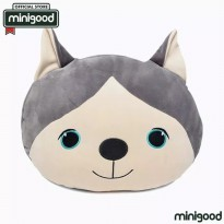 Minigood bantal empuk nyaman model husky eskimo dog pillow lucu empuk