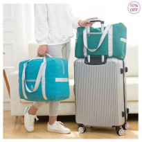 Tas Koper Gulung Foldable Zipper Waterproof Luggage Travel Bag