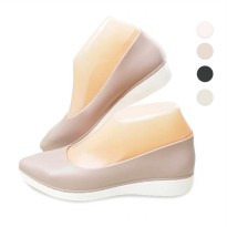 4 Warna Sepatu Wanita Pointed Flat Wedges | Size 36-40 | Jelly Shoes | Slip on Shoes
