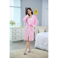 NOSH Piyama Handuk Love Pink 2 in 1 Plus Inner