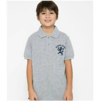 Baju Kaos Anak BRANDED - Polo Nevada Kids Abu-abu