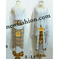Set Kebaya Abaya Akad Nikah Muslim RVy Collection