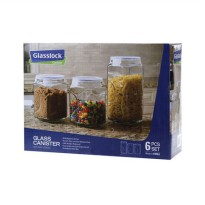 GLASSLOCK Canister Set IG534 (Set of 3)