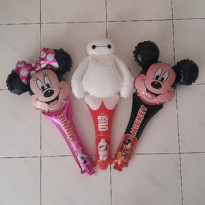Balon Foil Disney baymax mckey minnie big hero 6 frozen birthday pesta