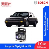 Bosch Lampu Mobil Honda Accord 88 Low Beam Plus 120 H4 12V 60/55W P43t - 2Pcs/Set - 1987301106