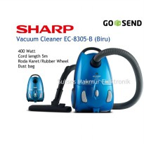 Vacuum Cleaner Sharp EC-8305-B Biru, Low Wattage
