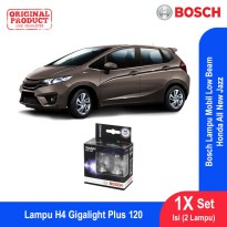 Bosch Lampu Mobil Honda All New Jazz Low Beam Plus 120 H4 12V 60/55W P43t - 2Pcs/Set - 1987301106