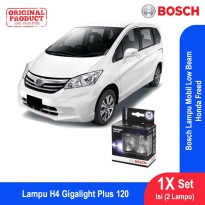 Bosch Lampu Mobil Honda Freed Low Beam Plus 120 H4 12V 60/55W P43t - 2Pcs/Set - 1987301106