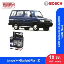 Bosch Lampu Mobil Toyota Kijang Low Beam Plus 120 H4 12V 60/55W P43t - 2Pcs/Set - 1987301106