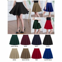 Rok Pesta Super Mekar / Flare Skirt Mini Midi Jul Bawahan Wanita Korea