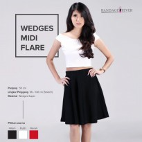 WEDGES MIDI FLARE COLLECTION / Flare Skirt / Rok Flare Polos