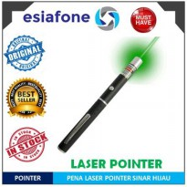 [esiafone #1 presenter] ESIATEC Green 5 in 1 Star Beam Laser Pointer Pen 5MW