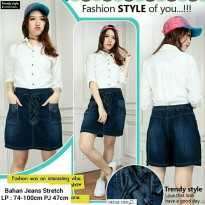 SB Collection Celana Pendek Zahrah Jumbo Jeans Rok Hotpants Wanita