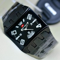 Swiss Army Dimension Jam Tangan Pria Tali Rantai - SA8900VJ (Full Black)