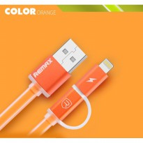 REMAX Aurora 2 In 1 Cable / Micro USB + Lightning / Kabel Data