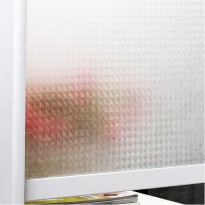 Frosted Glass Tempel Sticker Kaca Buram