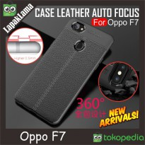 Leather Auto Focus Original Case Oppo F7 Softcase Back Casing Oppo F7
